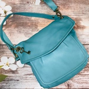 Fossil Teal Crossbody
